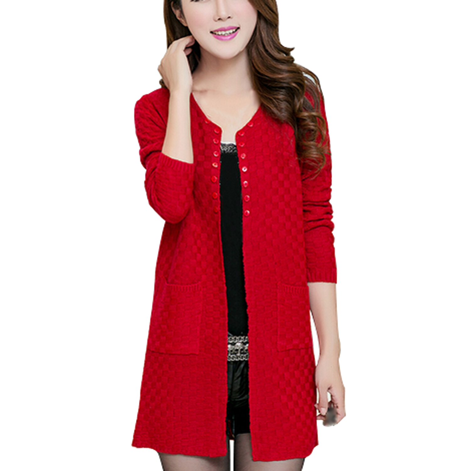 Long Red Cardigans Promotion-Shop for Promotional Long Red ...