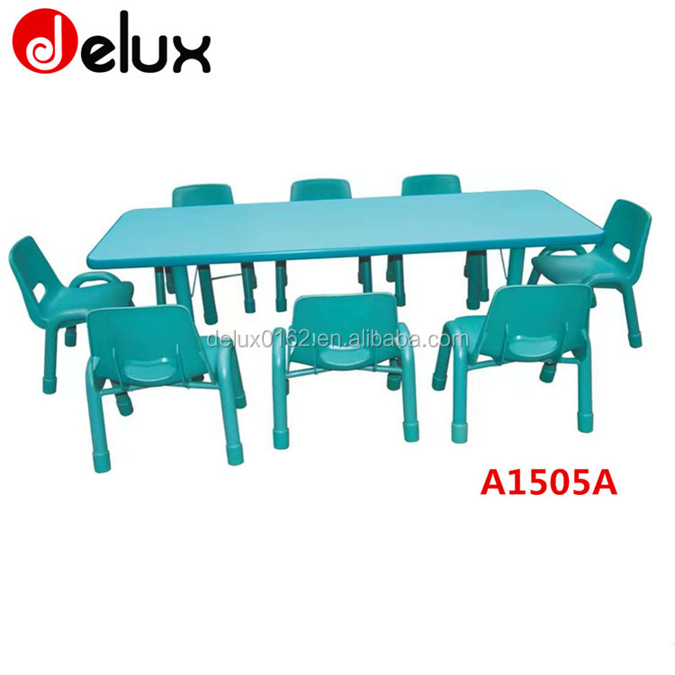 kids Trapezoid shape colorful school students desk and chair for school desk group A1503