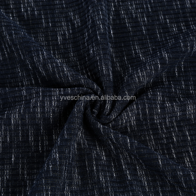 Best selling colorful soft space dyed polyester rayon spandex 4*3 RIB knit fabric for sweater