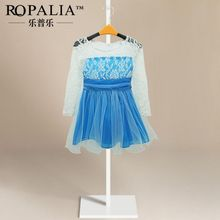 Summer Girls Princess Lace font b Fancy b font font b Dress b font Long Sleeve
