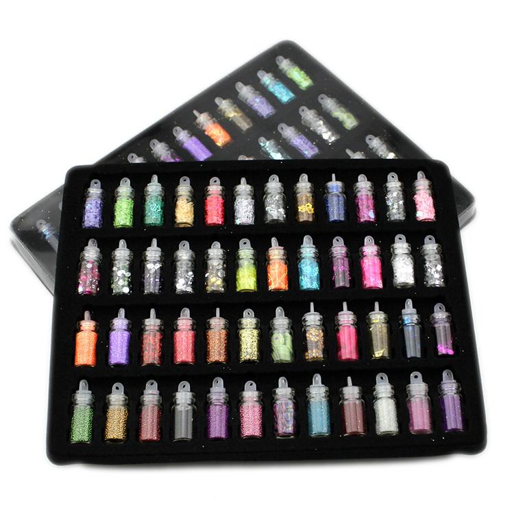 Nail Art Kit Contains: 48 Bottles Nail Art Charms Kit Contain Random Nail Art