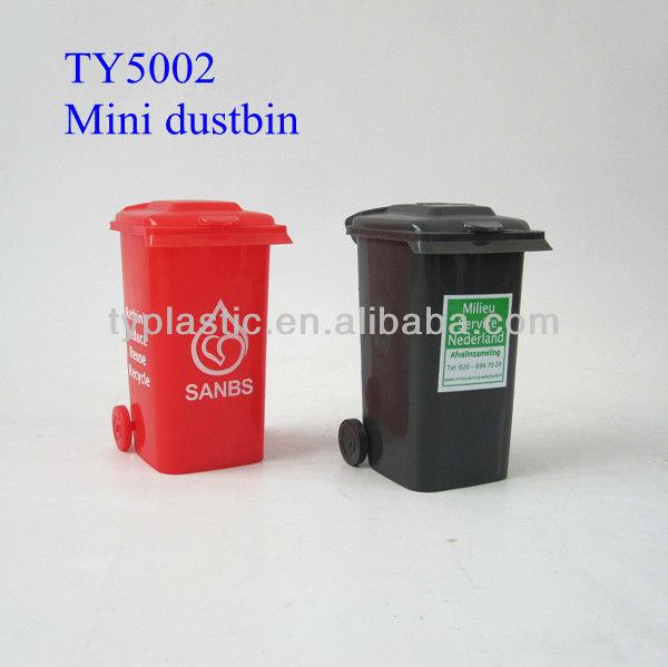 plastic mini dustbin pen holder