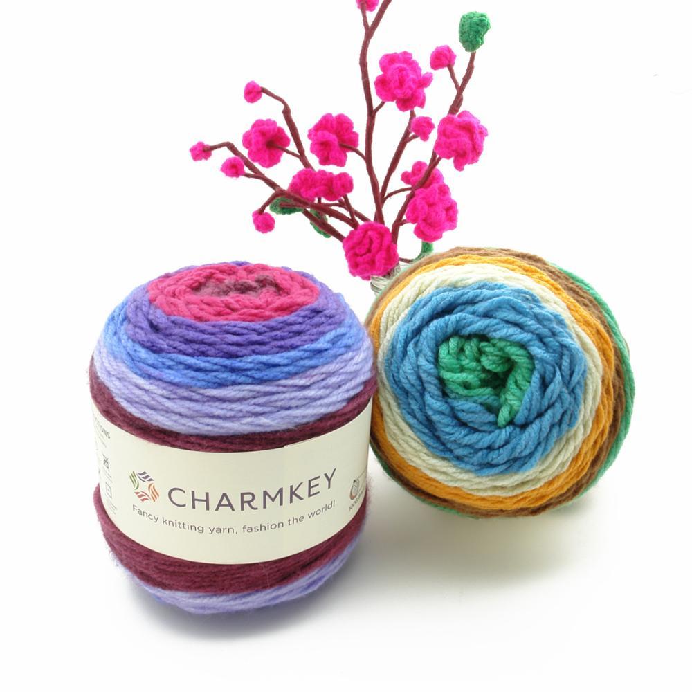 Charmkey wholesale pastel amazing cake yarn beautiful blended yarn for knitting and crochet