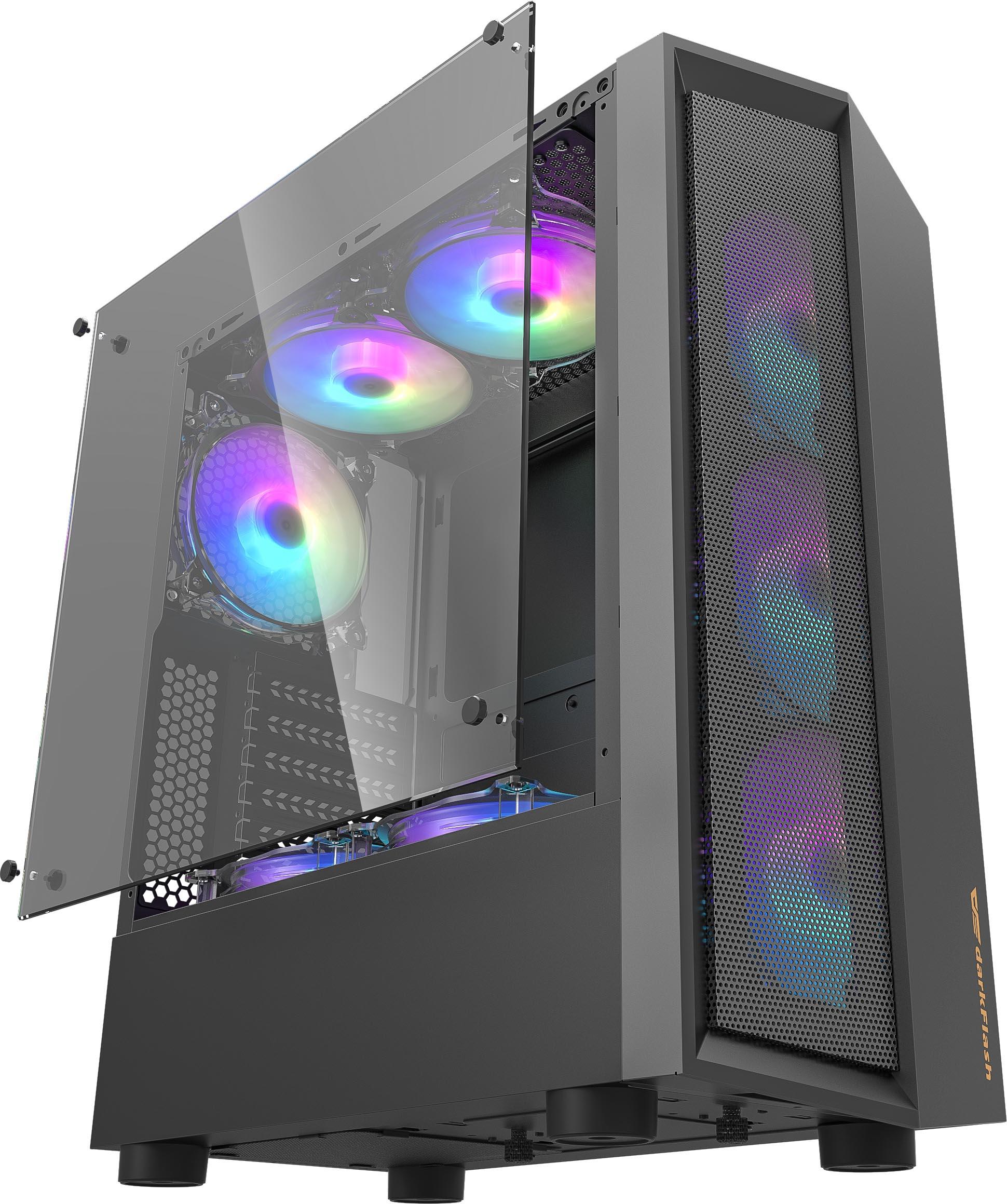 Aigo/darkflash — Boîtier D'ordinateur,Panneau Ondulé Composé De Abs Et De Maille En Fer - Buy Abs/maille Product on Alibaba.com