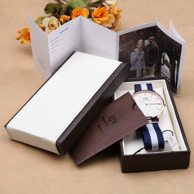 e8985174811cc1 40mm Brand Luxury Daniel Wellington Watches DW Watch Men Women Leather  Fabric Strap Quartz Watches with Watches Boxes and Tag