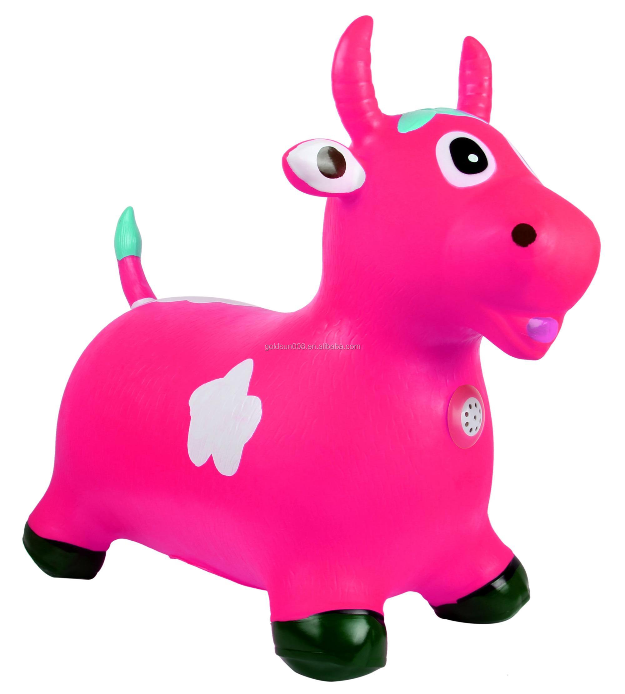 ПВХ прыгающие игрушки животных для детей, прыгающее животное, пластиковая игрушечная лошадь