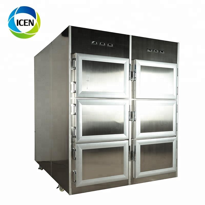 IN-U018 stainless steel medical Hospital Mortuary Refrigerator Corpse Refrigerator mortuary freezer
