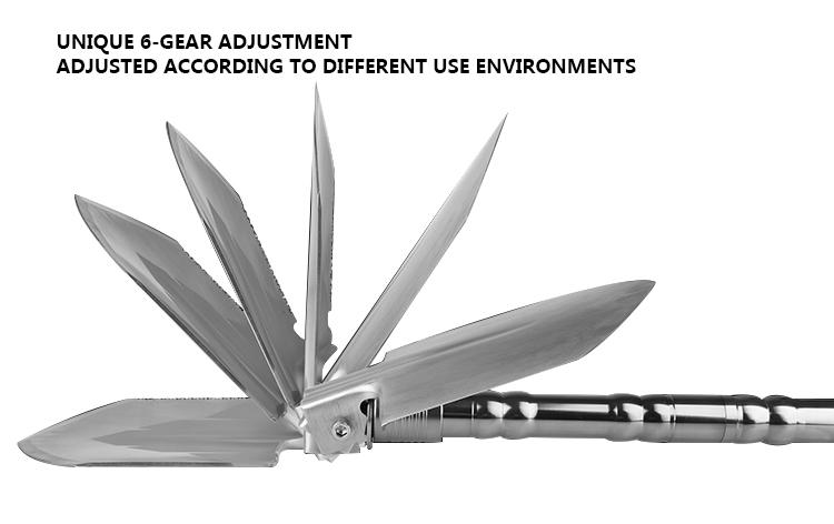 Hot Sale Removable Multifunctional Folding Aluminum Alloy Outdoor Shovel Self-driving Camping Shovel