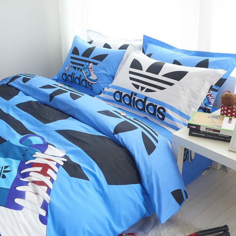 adidas sport kit set bedding bed duvet twin single size sheet pillowcase size ebay. Black Bedroom Furniture Sets. Home Design Ideas