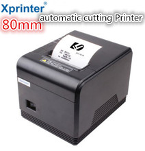 printer High quality 80mm thermal receipt Small ticket barcode printer Q200 automatic cutting   system supports Windows Linux
