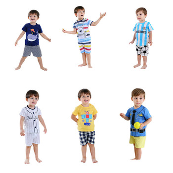2019 Cute short sleeves hot selling children clothes casual cheap summer kids clothing in good quality