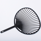 wholesale printed plastic fan customized cheap Japanese manual hand fan