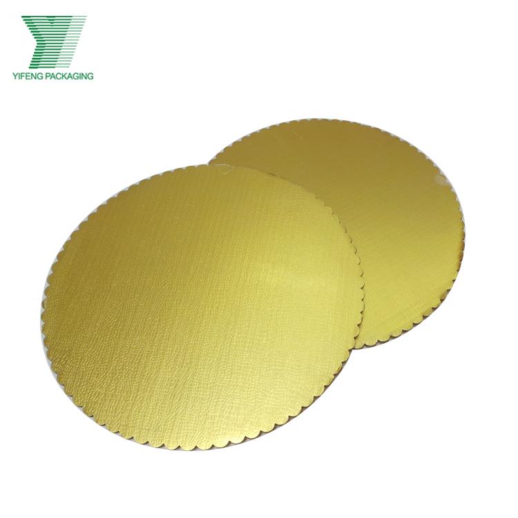 Оптовая продажа, золотой бумажный поднос для торта, Круглый бумажный поднос для торта