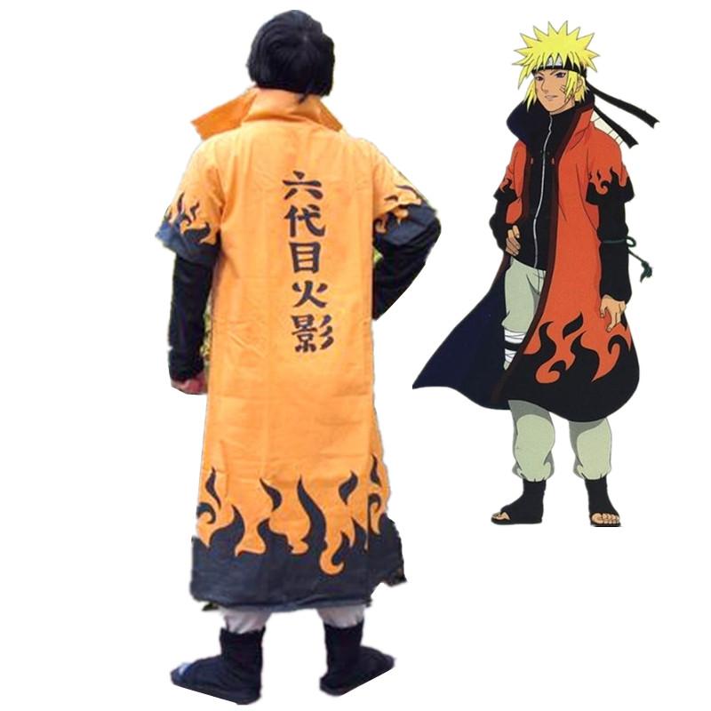 Anime Naruto Cosplay Costumes Six Yondaime Hokage Namikaze