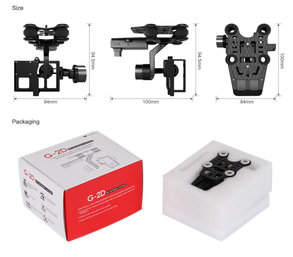 Walkera G-2D Brushless Gimbal For ILook / GoPro Hero 3 3+ On QR X350 Pro OS117