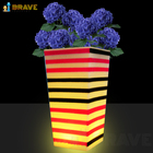 Flower Pots Factory Outlet New Product Modern Flower Pots Led Lighting 16 Colors Changing Remote Control Waterproof For Outdoor Garden