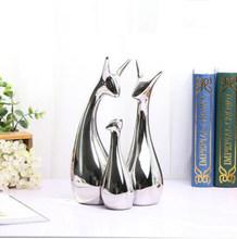 Простые современные керамические фигурки, орнамент для гостиной, украшение для дома, ремесла, офисные кофейные аксессуары, свадебный подар...(Китай)