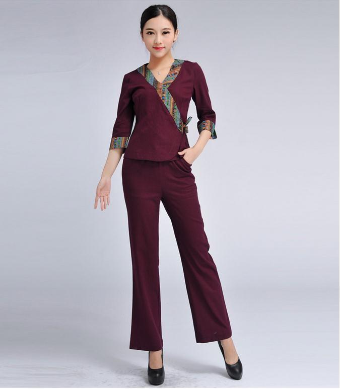Design de mode en gros prix spa salon de beaut uniforme for Spa uniform alibaba