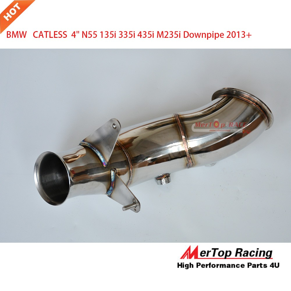 MERTOP RACE 4'' N55 F20 F22 F23 F32 F33 F36 135I 335I 435I Downpipe 2013+