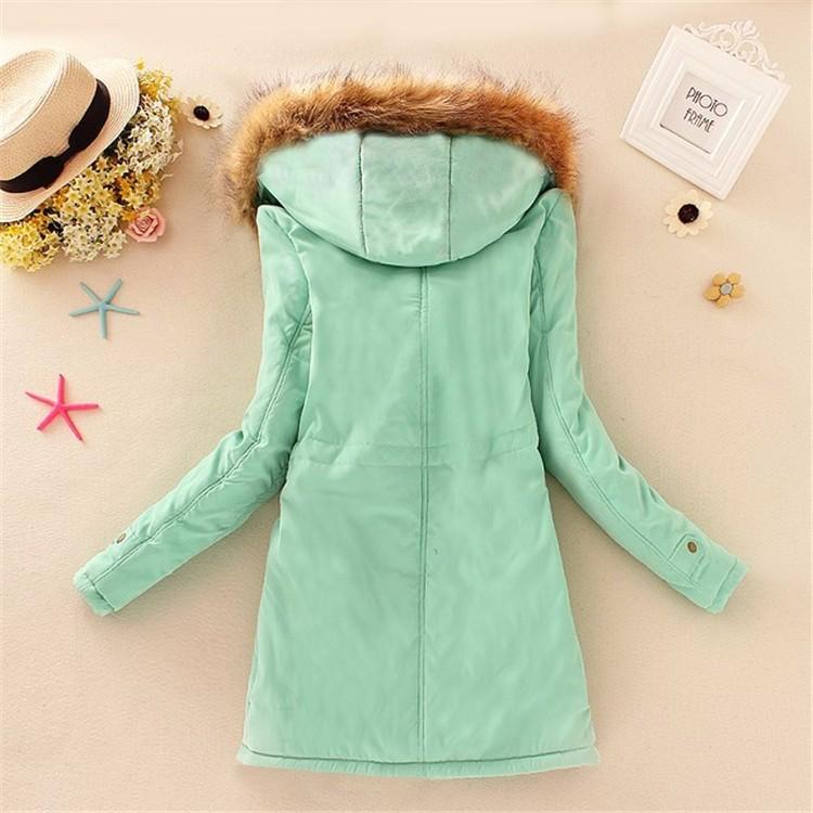 Winter women coat 2017 Women's Parka Casual Outwear Military Hooded fur Coat Down Jackets Winter Coat for Female