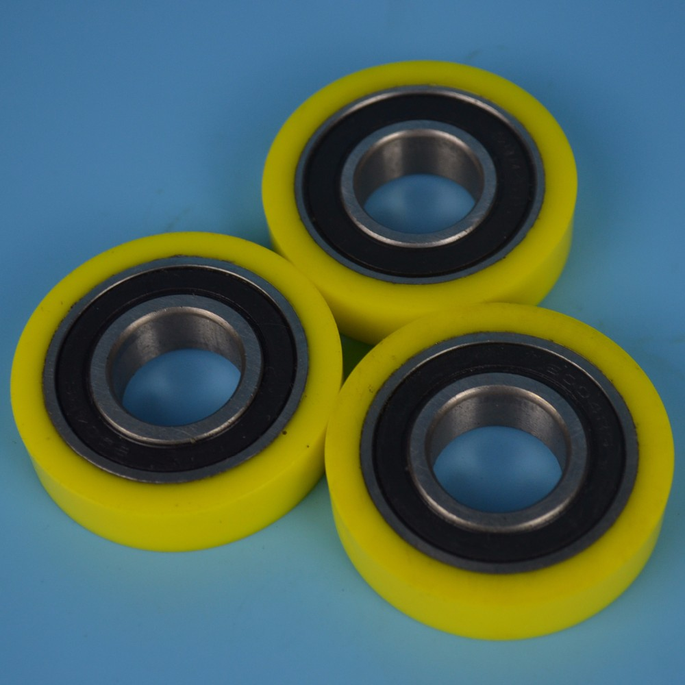 Wheel Bearing 6005 Polyurethane Rubber Coated Bearings For