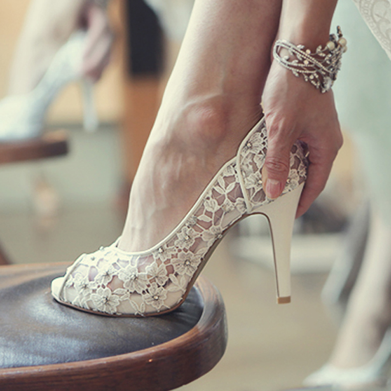 Bling Bling Flowers Wedding Shoes Pretty Stunning Heeled