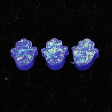 Fnixtar 9 цветов синтетический опал Хамса в форме руки Опал Шарм для сережек ювелирное изделие без отверстия 12*14 мм 20 шт./лот(Китай)