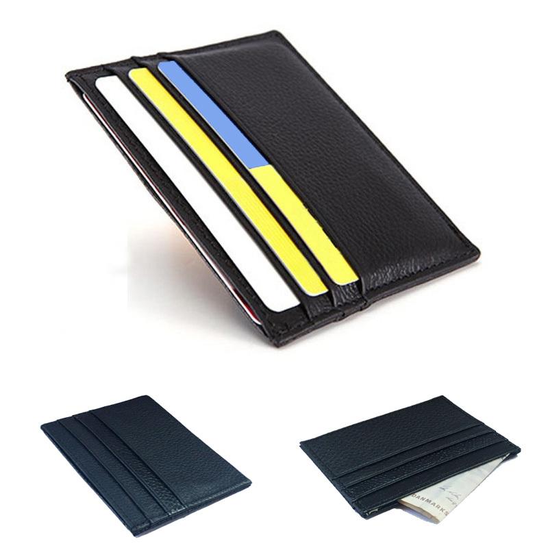 3639d9e98d71d Genuine Leather Credit Card Holder Card Case Card   ID Holders Men wallets  Women