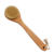 Hog bristle bath body brush with long wooden handle