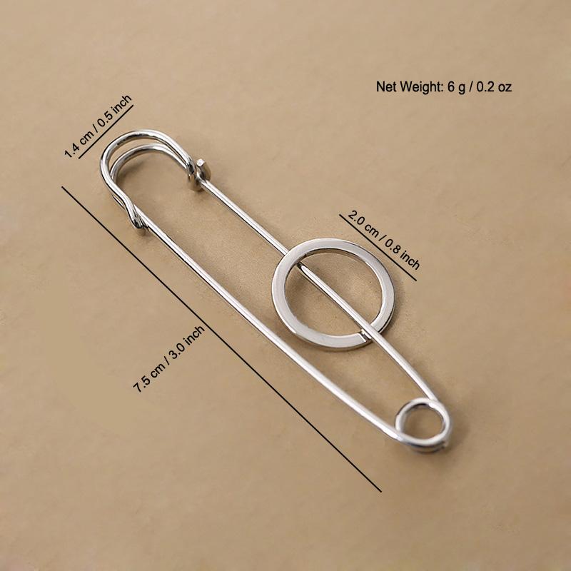b66dae303 2019 Wholesale Women Men Pin Brooch Gold Silver Alloy Metal Band ...