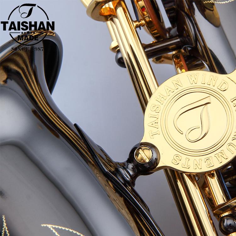 TAISHAN Music Instrument/ Black Nickel Body Professional Alto Saxophone