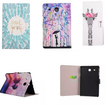XX Cute Cartoon  Stand PU Leather Case For Samsung Galaxy Tab E t560 t561 9.6″ Tablet PC Ultra thin flip Cover