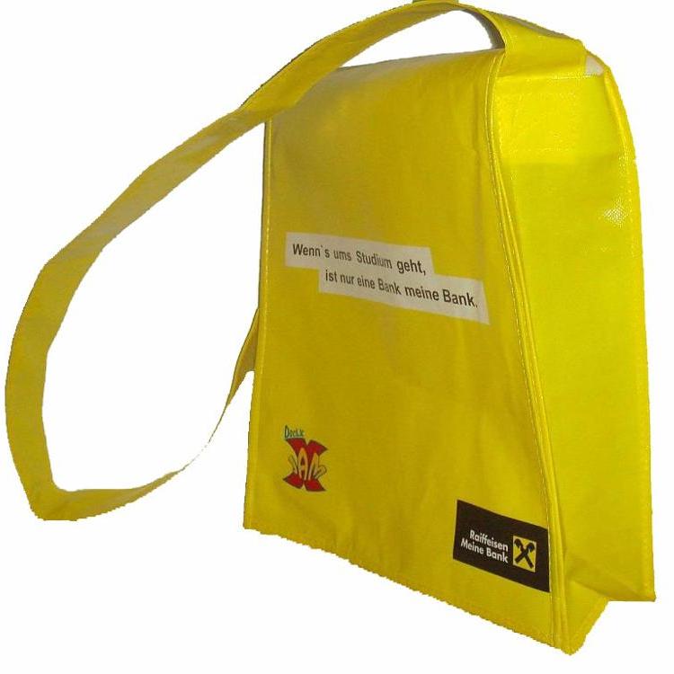 Многоразовая сумка-мессенджер, школьный почтальонный рекламный БОПП ламинат, гравировка, полипропиленовая Нетканая сумка через плечо