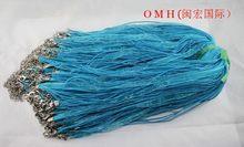 OMH оптовая продажа 5 шт богемная мода вуаль и металлический Омар Удлиняющая веревка цепочка смешанные цвета вуаль ожерелья 46 см(Китай)