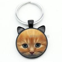Классический винтажный брелок TAFREE с черным котом, мужской и женский кошелек для подарка на Хеллоуин, подвеска на брелок, кольцо для влюбленн...(Китай)