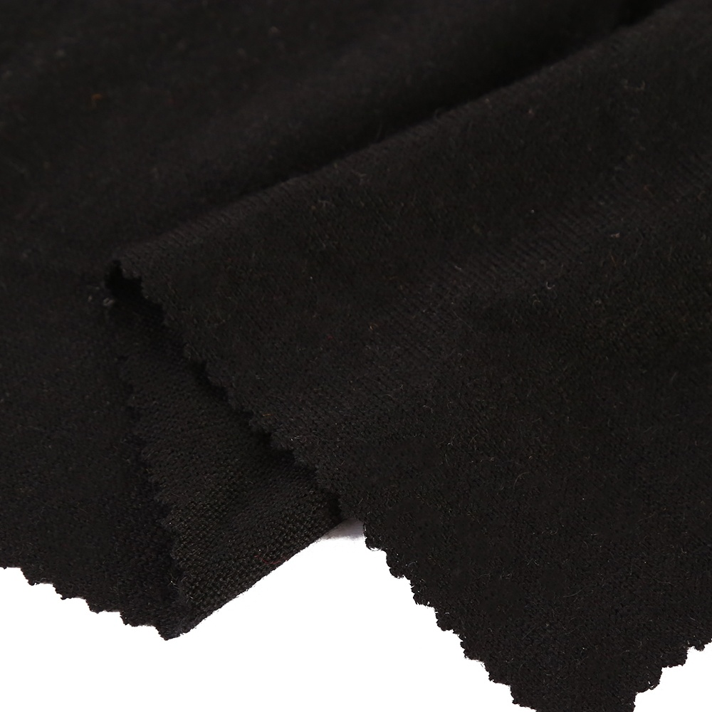 Cashmere knit fabric customized warm touch woolen fabric soft cashmere fabric for women garments