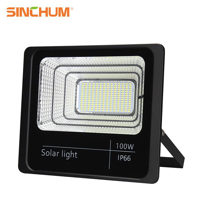 cheap price solar flood light Ce&Rohs certification unique design 100w solar light for garden 167