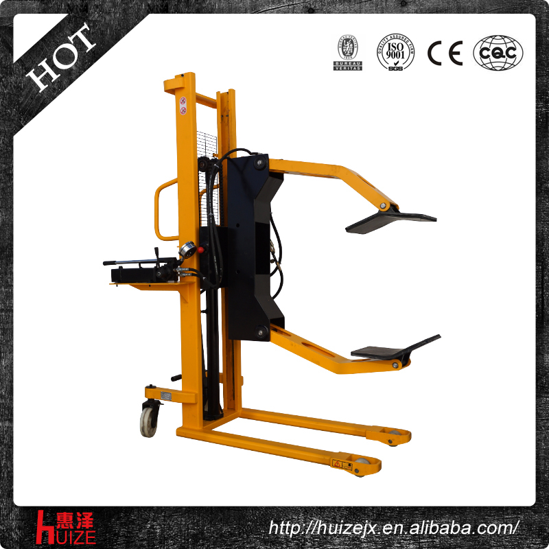 Hand Hydraulic Paper Roll Handling Equipment: Manual Paper Reel Flip Truck Hand Hydraulic Forklift With