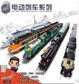 New Creator KAIZI City Electric train building blocks Set High speed rail Toy bricks steam train