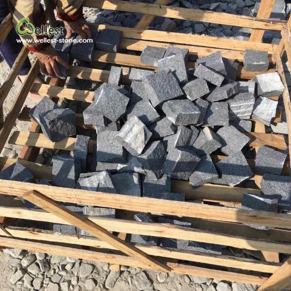 Лидер продаж, черные гранитные каменные блоки G654 для уличных Укладчиков