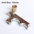 Free shipping stainless steel bow release aid for compound bow archery accessories Wrist clamp type hook