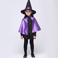 New 2016 Baby Girl Dress Set Cosplay Halloween Witch Performance Dress Set Dress Hat Free Delivery