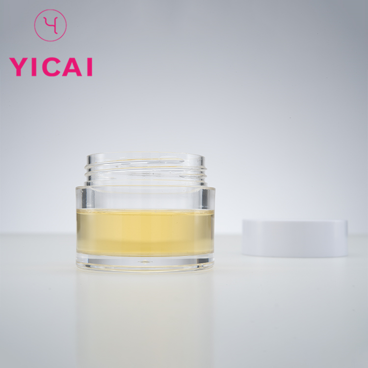 Turkish refillable face cream cosmetic container plastic transparent round petg container jar 30g