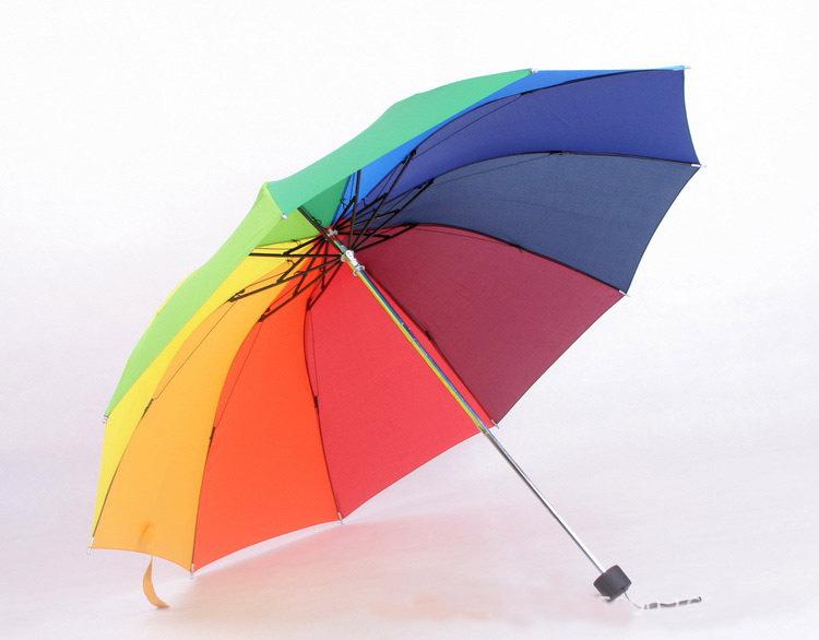 10 K корейский Colorful Rainbow дизайн дождливый зонтик прочный нет - автоматическое зонтики эпонж раскладной Guarda Chuva YS012
