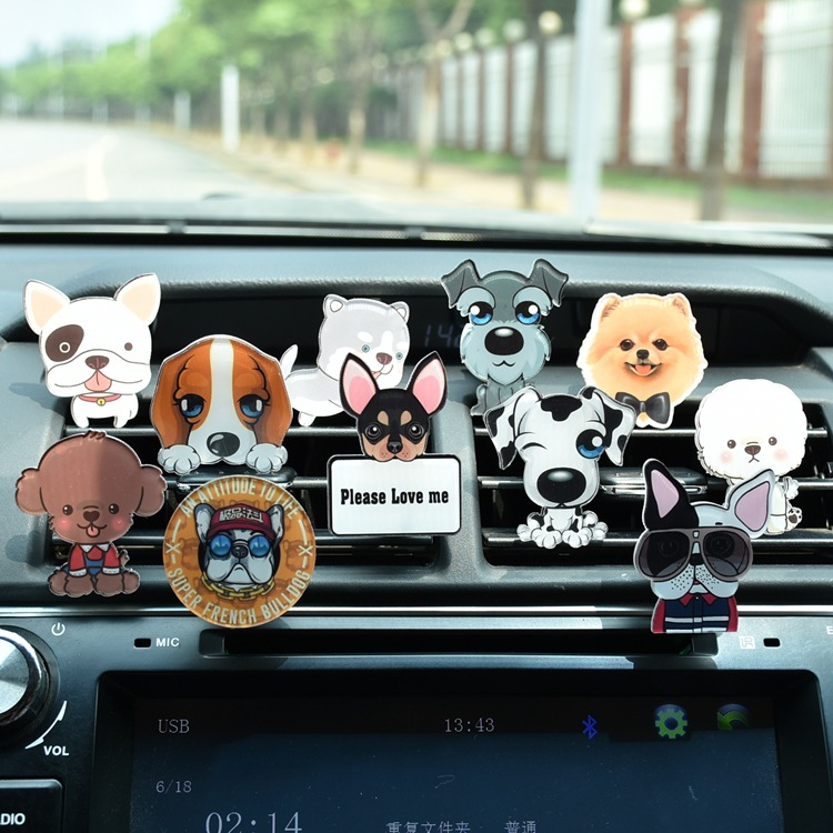 Wholesale New Silicone Car Air Vent Perfume Mount Aroma Diffuser Car Vent Clip ,Cartoons Aromatherapy Car Holder Air