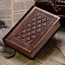 Европейский винтажный блокнот в твердом переплете, роскошный кожаный чехол, черный золотой дневник, дневник, книга для офиса, школы, канцеля...(Китай)