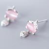 Silver pink opal
