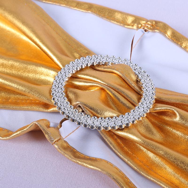 YRYIE Свадебный Бронзовый стрейч Золотой спандекс металлик лайкра спандекс Чехол для стула