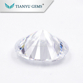 Wholesale Wuzhou Gems Clear Fire CZ Cubic Zirconia Rough Gems Best Fake Colorless Synthetic Diamond