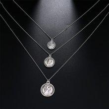 Женское многослойное ожерелье с кулоном в стиле ретро, вечерние ювелирные изделия и аксессуары, 2019(Китай)